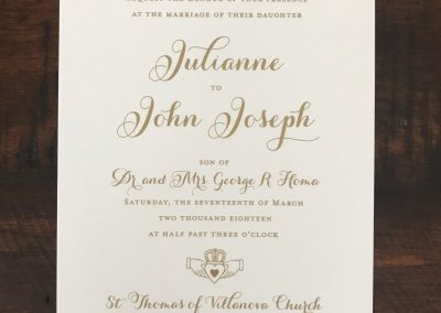 grooms parents named on wedding invitation