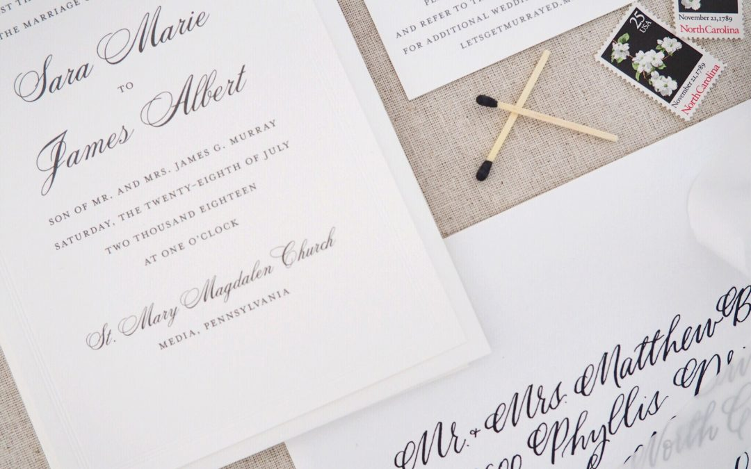 Lets Address it  – Calligraphy vs. Printed Wedding Invitation Envelopes